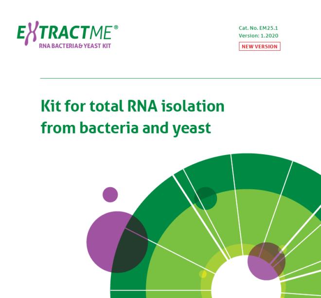 EXTRACTME RNA BACTERIA & YEAST KIT EM25.1